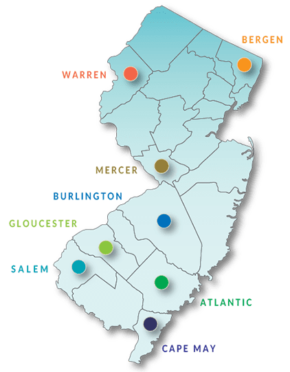 Map of special education programs and shared services in eight counties