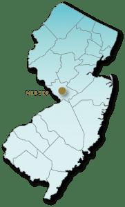 Mercer County map