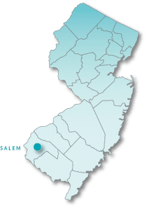 Map of New Jersey highlighting Salem County