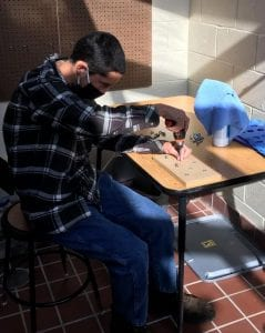 Student Using a Screwdriver