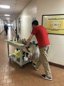 Billy Vogt, a student at Cape May County Special Services School District, works on his school's maintenance and custodial team and hopes to remain employed with the team after graduation.
