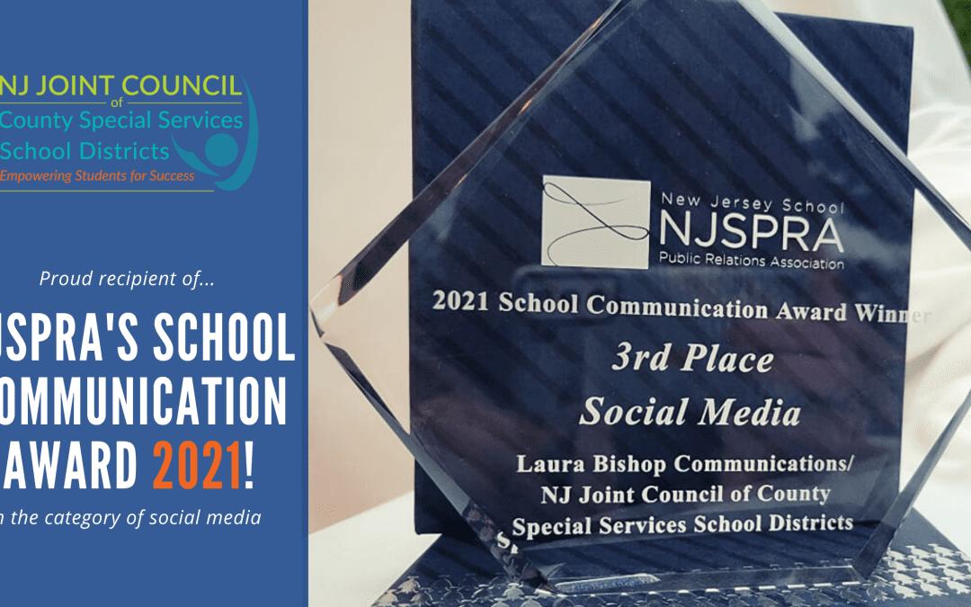 NJSPRA Award Banner